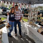 Billy and Tiere of Carlsward Farms at the Vero Beach Farmers Market.