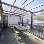 Private patio, available for functions