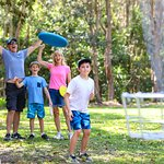 Hire your discs from the Ballina Visitor Information Centre and enjoy a day at the disc golf par