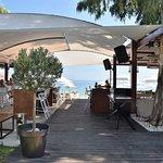Restaurant right on the beach