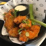 My wings with blue cheese sauce.
