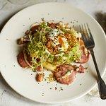 Smoked Morteau sausage salad