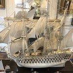 Un navire entièrement réalisé en ivoire