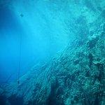 Cor da água na parte mais profunda