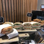 Sandwich selection from our courtyard cafe at Pallant Gallery
