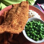 Fish and Chips (substituted with Sweet Potato fries) - 12.65 + 2.00 GBP