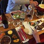 fondue, crumble, bavette