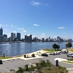 View from the Narrows bridge across the Swan from siuth shore to Elizabeth quay.