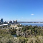 View from Kings Park lookout towards Elizabeth quay and the city