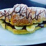 croissants com banana e nutela