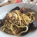 Sea food tagliatelle. Ok but not massively flavoursome
