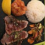 tataki de thon et tartare de saumon