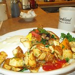 Poppy Bagel McNagle and home fries - hearty and good