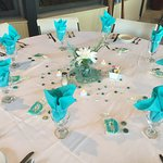 Table Setting for High School Class Gathering at Back Creek.