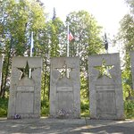 Alaska War Veterans Memorial, Milepost 147.1, The Parks Highway.