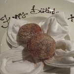Piping hot Cocoa Beignets with molten lava chocolate filling