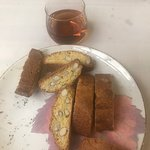 Cantuccini e vin santo--what a lunch!