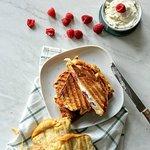 De 'Fram-blij', een van onze zoete tosti's!