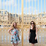 At the gates of the Chateau de Versailles