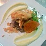 Grilled Chicken Fillet with Mushroom Fondue & Parmesan Granola