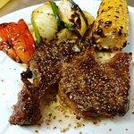 Steak und Wein Allegro Foto