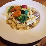 Pasta with Veggies and Veal