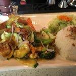 Tofu curry vegetable stir fry