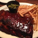 Ribs, Fries and green beans