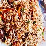 Mis favoritos cuando voy a PF chang! Mongolian beef y arroz frito de combinación! Me encanta! La