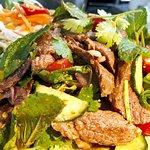 Lunch idea, Padthai prawn, Prick-king Gai, crab meat fried rice, Thai beef salad, Thai Garlic Pr