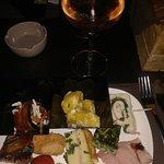 Aperitivo cena, vino rosè