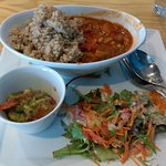 Very good place for vegetarian. I ordered the today's specials which  are south american chili,