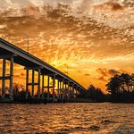 Sunset at Pungo Ferry Bridge on the North Landing River