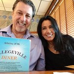 ROSARIO CASSATA AND CAROLYN AT THE COLLEGEVILLE DINER IN COLLEGEVILLE PENNSYLVANIA