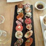 De fameuze 14 sushi's.