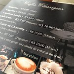 Cardápio cafés