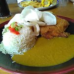 Katsu Curry with chicken breast and rice