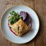 Goats Cheese, spinach and butternut squash Wellington