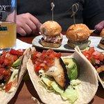 Blackened Fish Tacos & Seafood Sliders