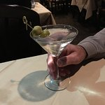 A shaken martini