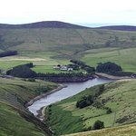 Sulby Reservoir from Snaefell Mountain Railway