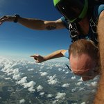 Free falling from 15,000 feet.