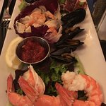 The cold seafood plate