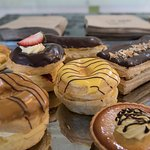 Assorted sweet pastries and desserts