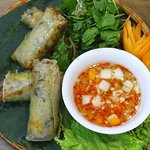 Fried Hanoi spring rolls