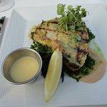 Fresh swordfish prepared very well