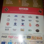 beverages & more menu page at Tilted Kilt