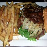 A-1 Smokehouse burger with French fries