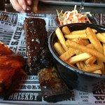 BBQ rib and quarter chicken