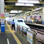 Синкансен на станции Хиросима.